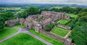 An aerial view of Hoghton Tower Pic: Skytech Imagery