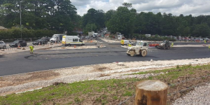 Major work is ongoing at the A6-M55 junction