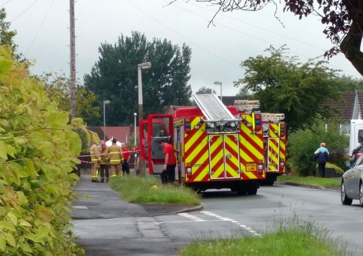 Fire crews in Brookside Road Pic: Katie Eames
