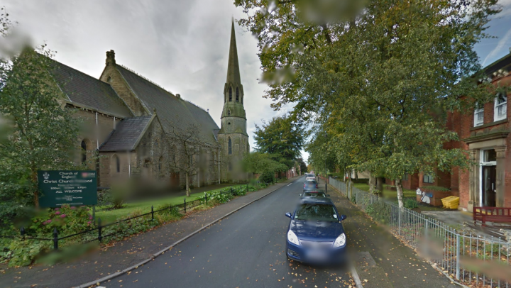 The collision took place near Christ Church in Fulwood Pic: Google
