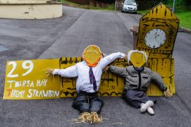 One of the more political scarecrows Pic: Mick Gardner