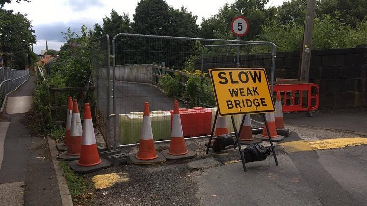 East Cliff bridge has been closed to the public Pic: Kate Dickens