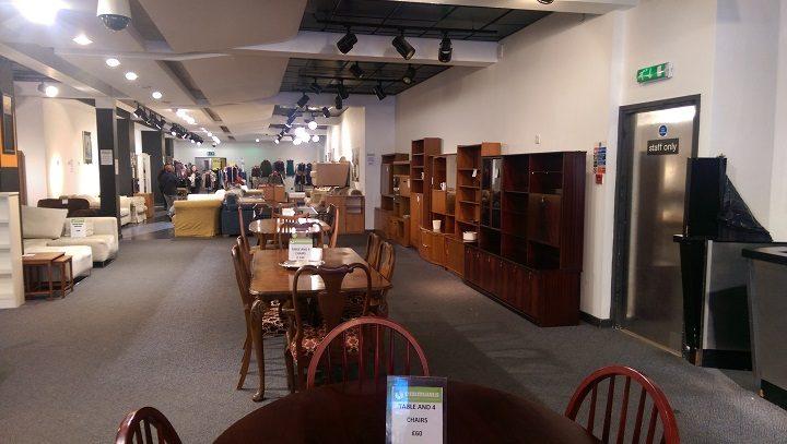 Inside the former HMV store - now an Emmaus second-hand store