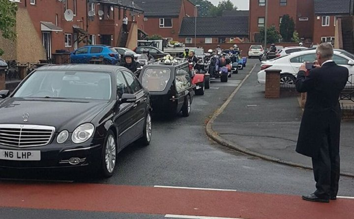 The funeral procession for John Melling