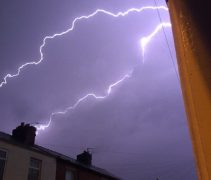 Lightning over Bamber Bridge Pic: Claire