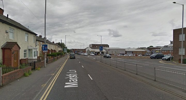 Marsh Lane heading out of the city is being closed off Pic: Google