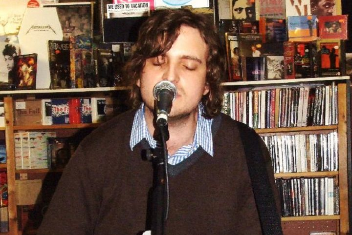 James Walsh from Stairsailor performing in Action Records in March 2009 Pic: Chris Skoyles