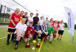 Teams played out the tournament to mark the Dick Kerr Ladies