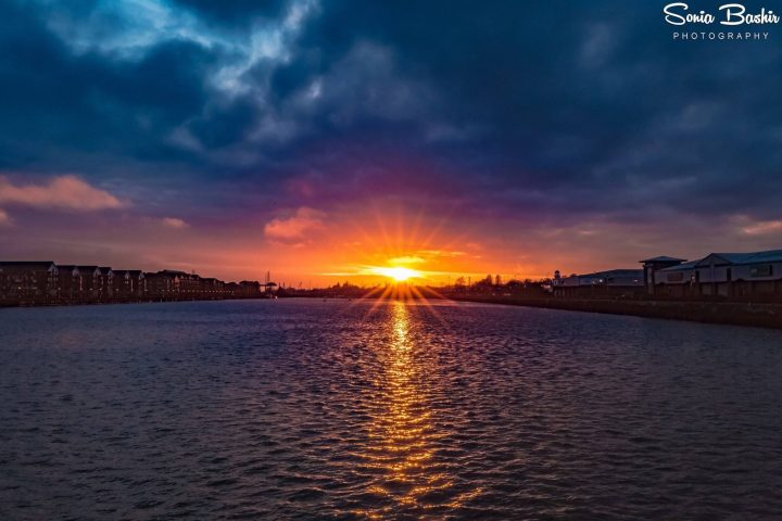 Sunset at Preston Docks