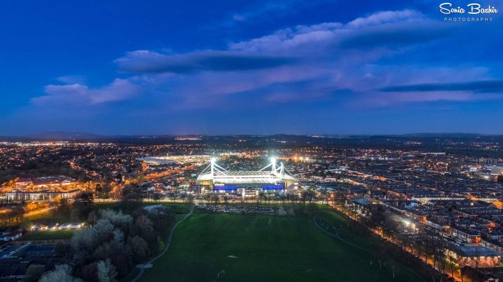 Deepdale - the home of Preston North End - from the air