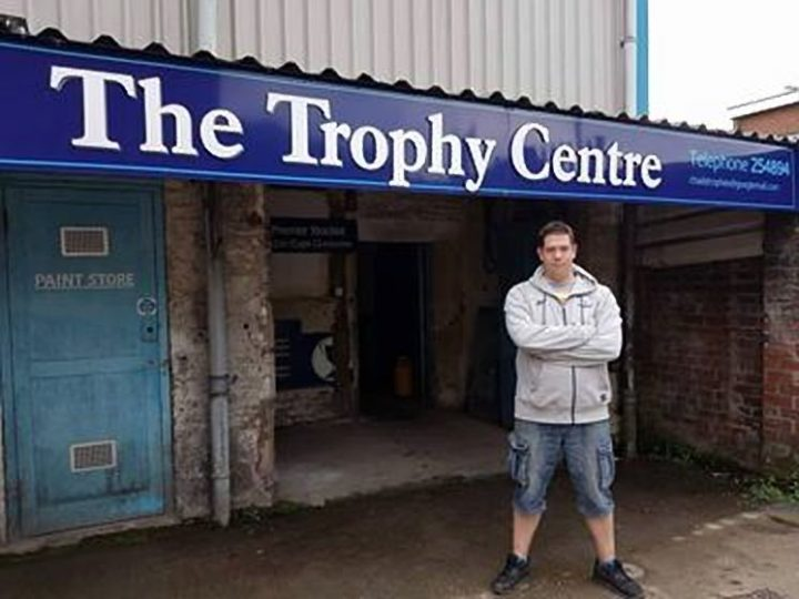 Andy Nicholson outside the new Trophy Centre premises