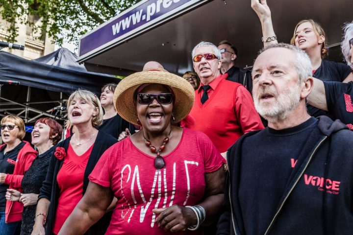 One Voice Community Choir performing at Feast for Peace