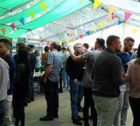 Inside one of the tents at the Conti beer fest