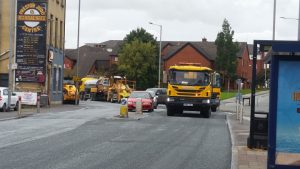 Work being carried out in Fylde Road Pic: Paul Ridyard