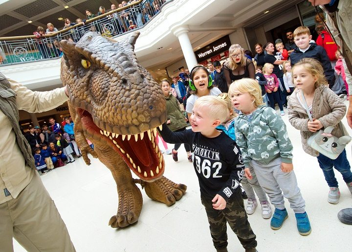 The T-Rex was a hit with children of all ages