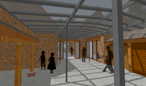 One of the proposals for the former coach house