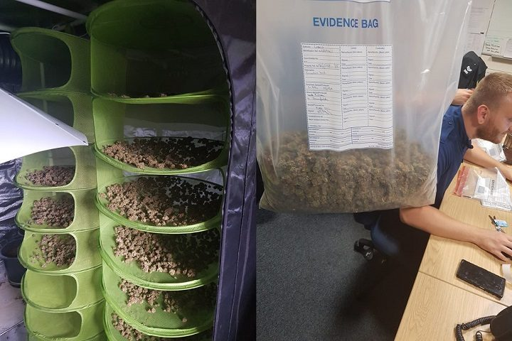 Police uncovered the stash during the operation Pic: Preston Police