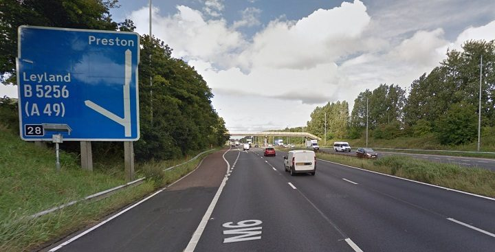 The crash happened close to Junction 28 on the northbound side Pic: Google