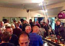 At the bar at Penwortham Beer Festival