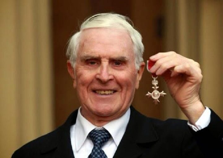 Peter Ward with his MBE