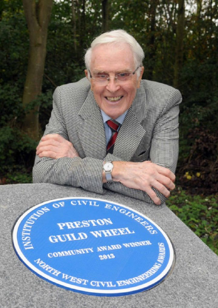 Peter Ward at the opening of the Guild Wheel