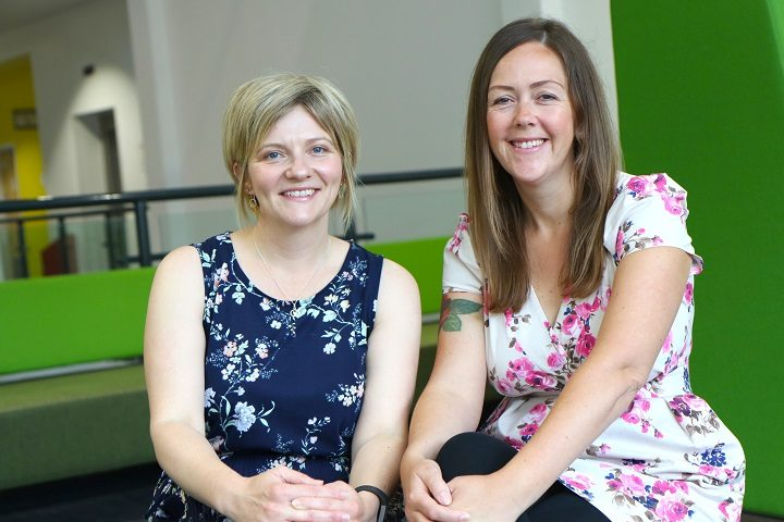 Kathryn Smyth (left) with Georgina Ritchie