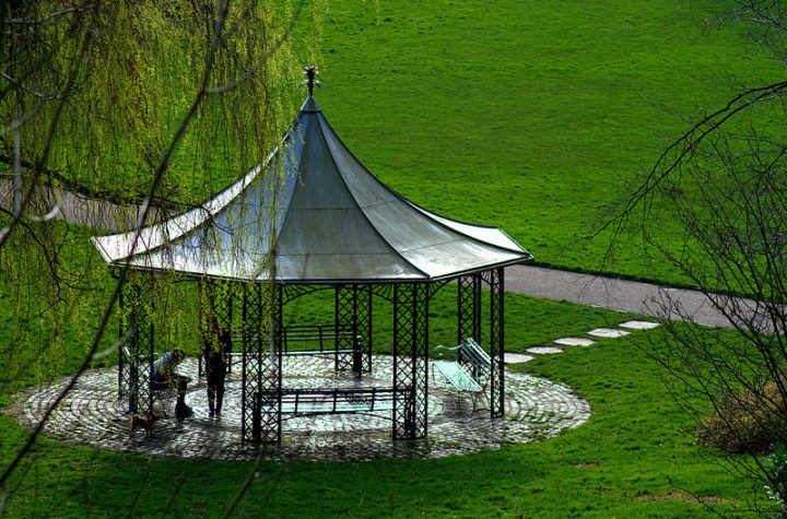 A view of the bandstand in Miller Park Pic: Tony Worrall