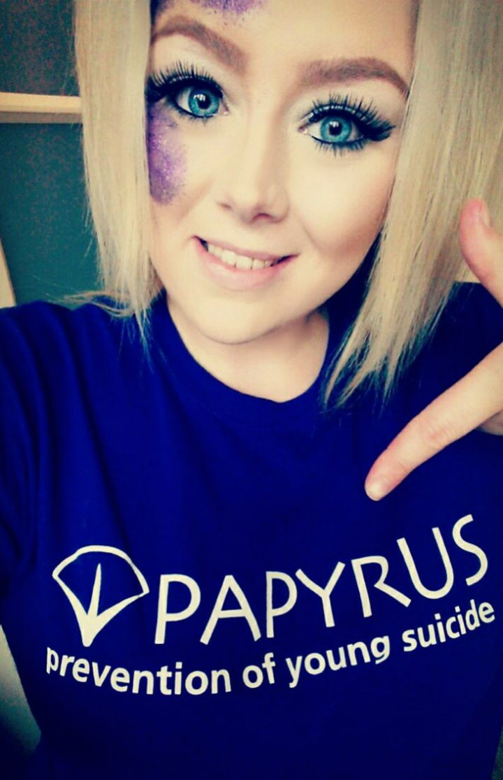 Leanne with one of the charity t-shirts