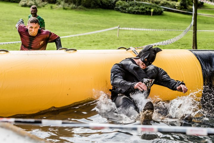 Heroes taking on the assault course in 2017 Pic: Alf Myers
