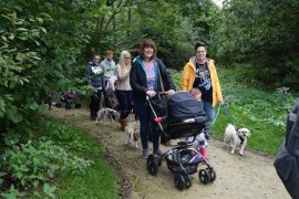 Taking part in the sponsored dog walk