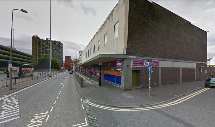 The fire started near the B&M store in Tithebarn Street Pic: Google