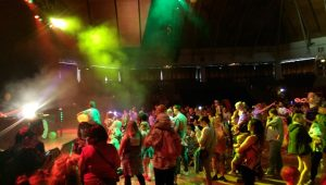 A view of the Guild Hall during the baby rave