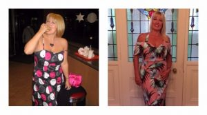 Donna, before, and after, her experience