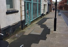 Guildhall Street has some temporary tarmac