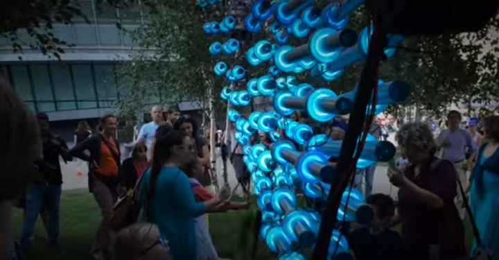 You'll have the chance to play the illumaphonium in Harris Street
