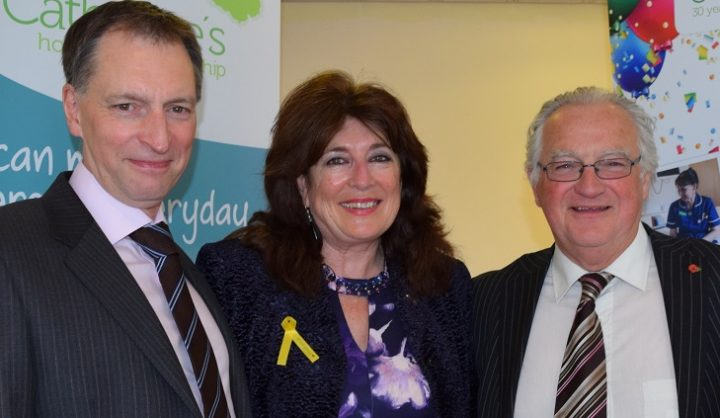 Hospice chief exec, left, with Maureen and John