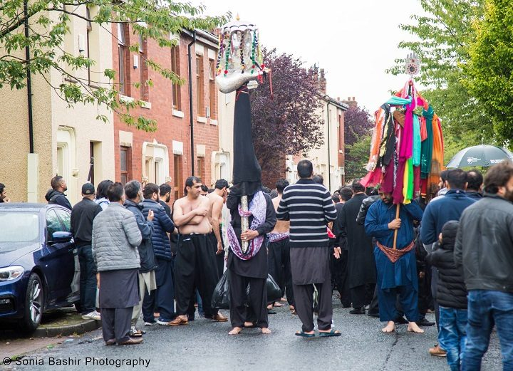 The procession included colourful effigies Pic: Sonia Bashir