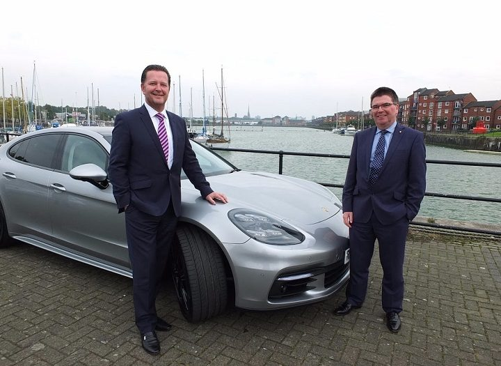 Paul Bowker, Bowker Motor Group chief executive and Peter Mahon, General Manager, Operations, Porsche Cars GB Limited