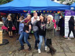 Posing at Preston Pride