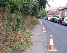South Meadow Lane's pavement was blocked for more than two weeks