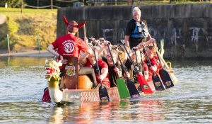 The dragon boat out on the Docks