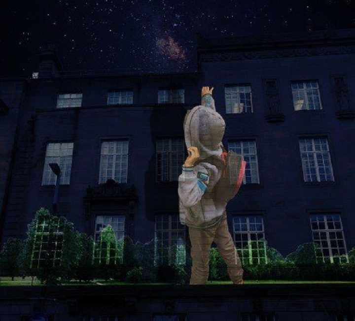 Trespass is to be projected onto the side of the Town Hall