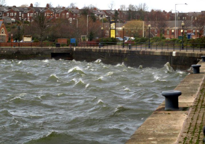 A choppy Preston Docks during a storm Pic: Tony Worrall
