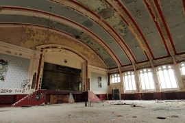 Inside the old music hall in Whittingham Pic: scrappyNW