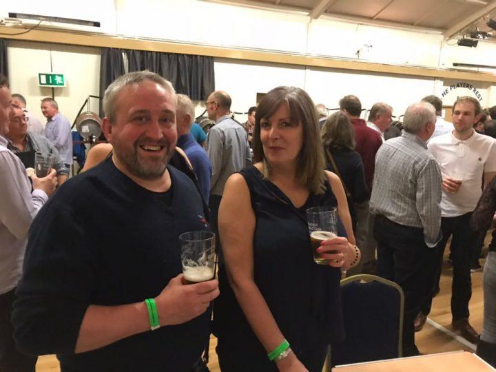 Enjoying a drink Pic: James Roberts