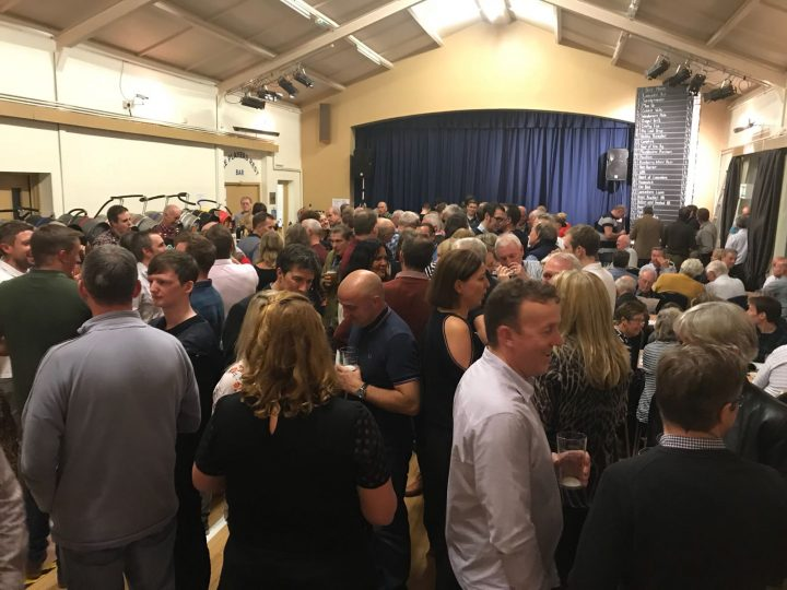 A busy main hall at Broughton Club Pic: James Roberts