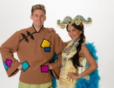 Carl Tracey as Aladdin and Stacey McClean as Princess Jasmine