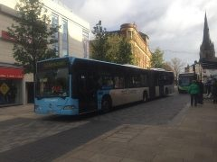The Coventry bus wasn't lost - it was on loan as part of the city's tram project Pic: Rob Fairclough