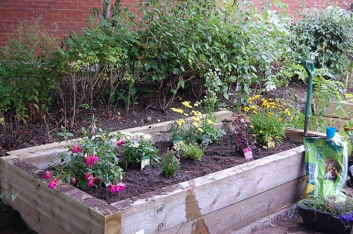 One of the new sensory flower beds