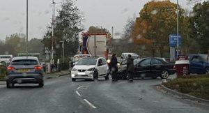 Scene of the crash in the Docks area Pic: Richard McCann